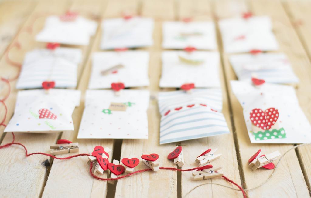 Un calendario con sorpresas sorpresas para tu pareja - Ideas aniversario originales ...