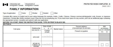 Visto canadense, Canadá, VAC, formulário imm5645 - Foto Reprodução da Internet