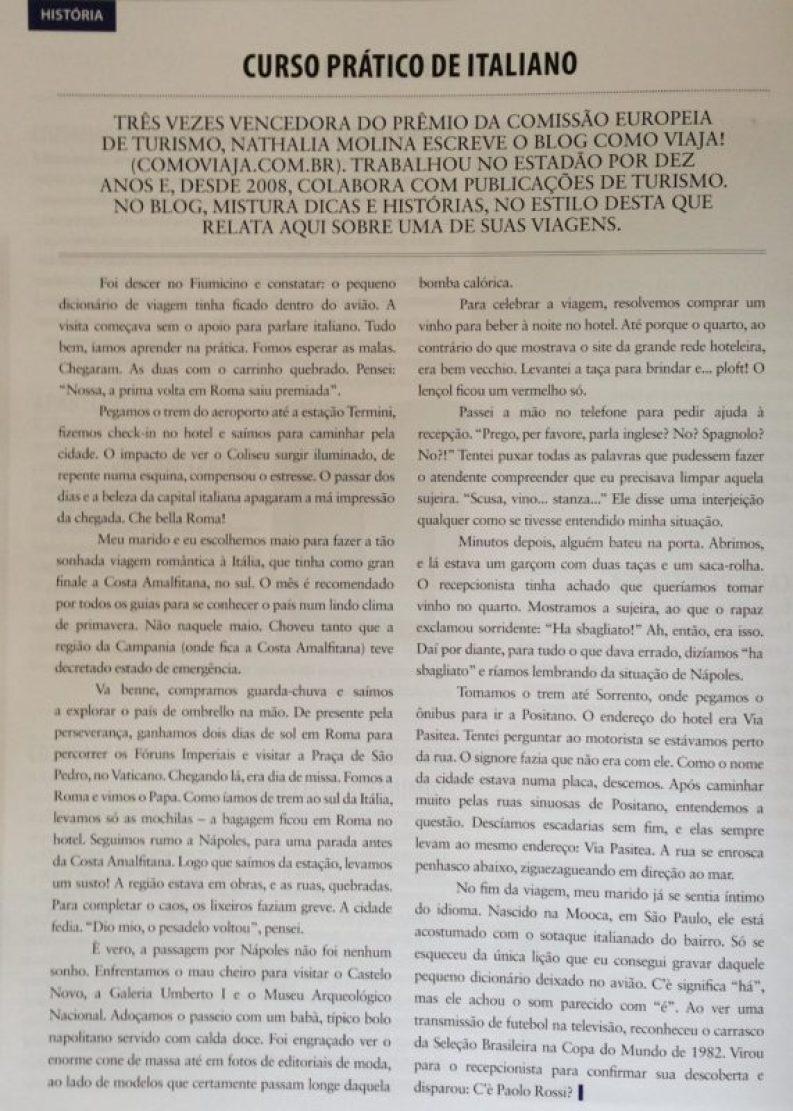 Viagem, Itália, Italiano, Nathalia Molina @ComoViaja, Revista Hotelnews-2