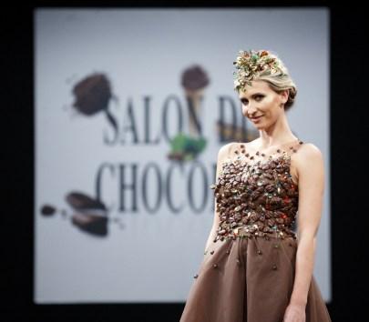 Salon du Chocolat, Paris, Desfile, Florencia Soerensen & Philippe Bernachon - Foto Divulgação
