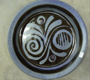 Pottery plate by Charlotte Schaufelbuhl