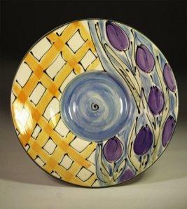 Pottery plate by Cori Sandler