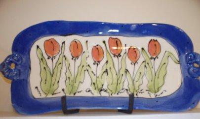 Pottery platter by Cori Sandler