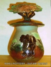 Pottery urn by Maggie Shaw