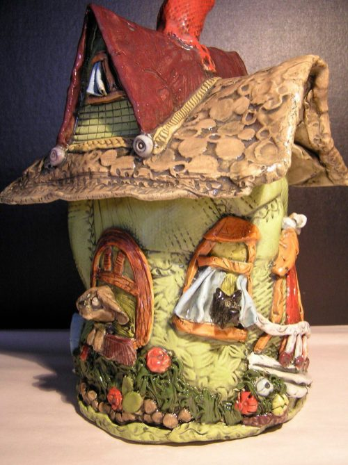 Pottery house by Shelley Combs