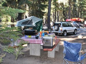 compact camping trailer lets build something - campsite setup