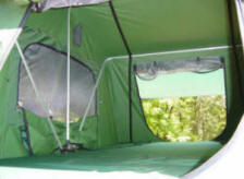Roof Top Tent Compact Camping Trailer inside an RTT