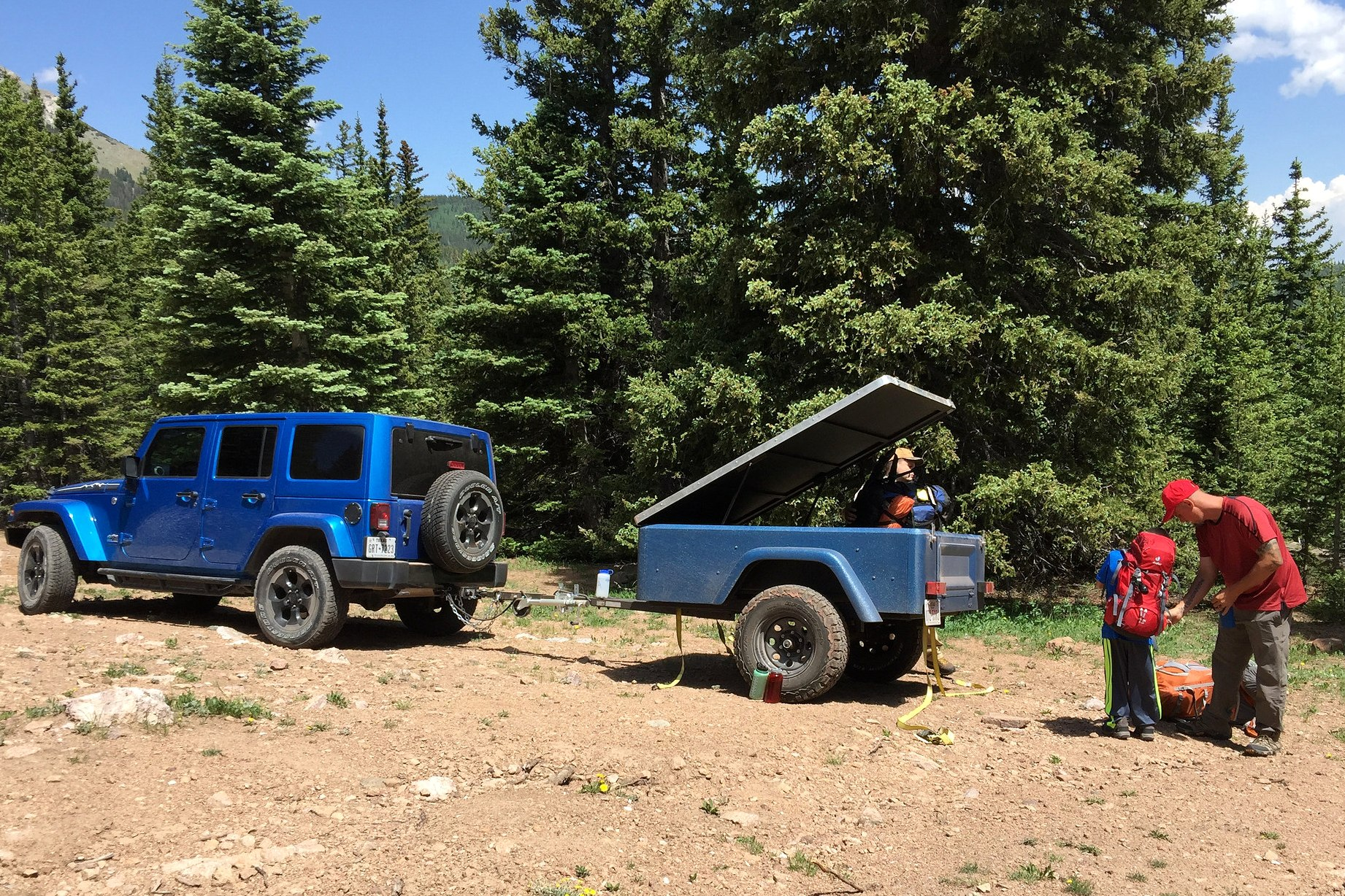 Jeep Trailer Customer Build with lid off road compact camping trailer