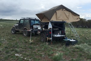 Jeep Trailer by Dinoot Customer Build in NE Nevada