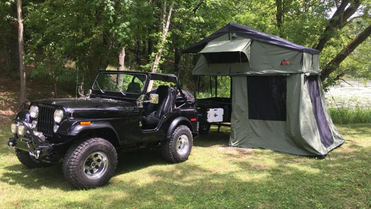 Jeep Trailer Customer Build Bryan with roof top tent