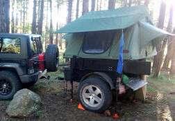 Jeep Trailer Build by Customer - Dinoot Trailers lightweight Fiberglass Tub Kit 2