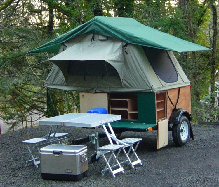 Explorer Box Camping Trailer DIY Compact Camping Trailer with roof top tent setup