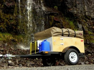 Explorer Box Camping Trailer DIY Compact Camping Trailer with roof top tent closed