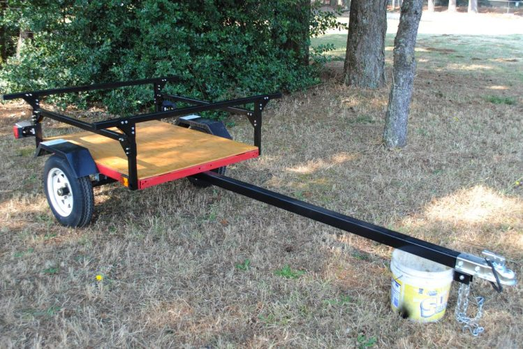 kayak trailer No Weld Trailer Rack Kayak or Toy Trailer DIY