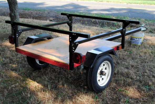 kayak trailer No Weld Trailer Rack Kayak or Toy Trailer DIY from Compact Camping