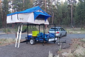 Trailer Racks DIY Compact Camping Trailer Racks