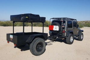 Trailer Racks for Roof Top Tents No Weld DIY Trailer Racks