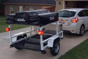 RTT Roof Top Tent Trailer Rack by Customer Eric