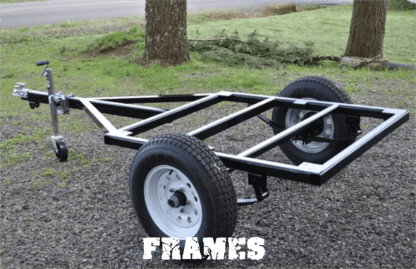 Compact Camping trailer Frame