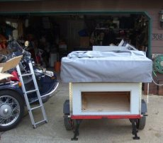 Buck's Compact Camping Trailer for his Motorcycle