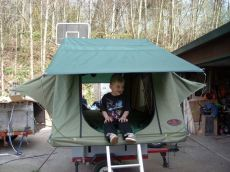 Buck's Motorcycle Trailer with Roof Top Tent