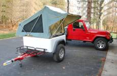 The Dinoot Jeep Trailer with the M.O.A.B. Folding DIY Tent Unit