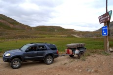 Our Customer with his trailer and Roof Top Tent from Compact Camping Concepts