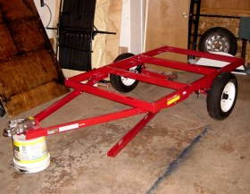 Harbor Freight Frame Kit with Small Tires