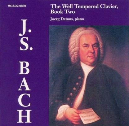 J.S. Bach – The Well Tempered Clavier Book Two – Joerg Demus