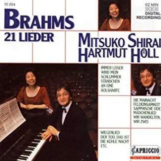 Johannes Brahms – 21 Lieder – Mitsuko Shirai