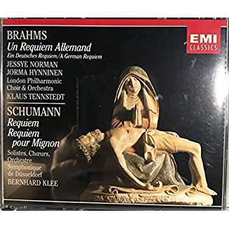 Brahms, Schumann Requiems – Klaus Tennstedt, Bernhard Klee (2 CDs)