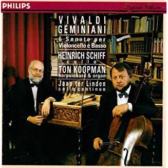 Vivaldi – Geminiani – 6 Sonate per Violincello e Basso – Heinrich Schiff, etc.