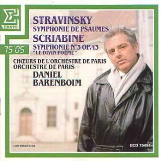Stravinsky – Symphonie De Psaumes – Scriabine – Le Divin Poeme – Daniel Barenboem