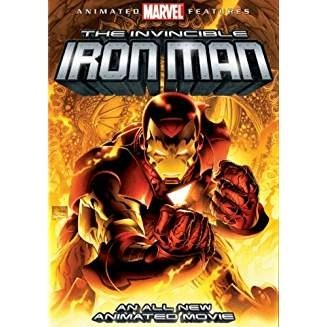 The Invincible Iron Man – Animated Marvel Feature (DVD+ CD Rom Comic Book)