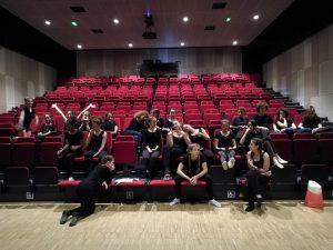 Atelier théâtre collège de Claix, salle Le Déclic