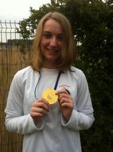 Chloé, championne départemental Beursault Cadet Femme