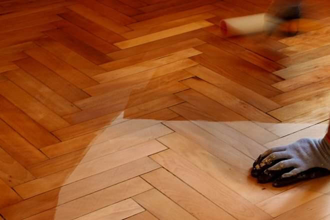 hardwood floor waxing treatment
