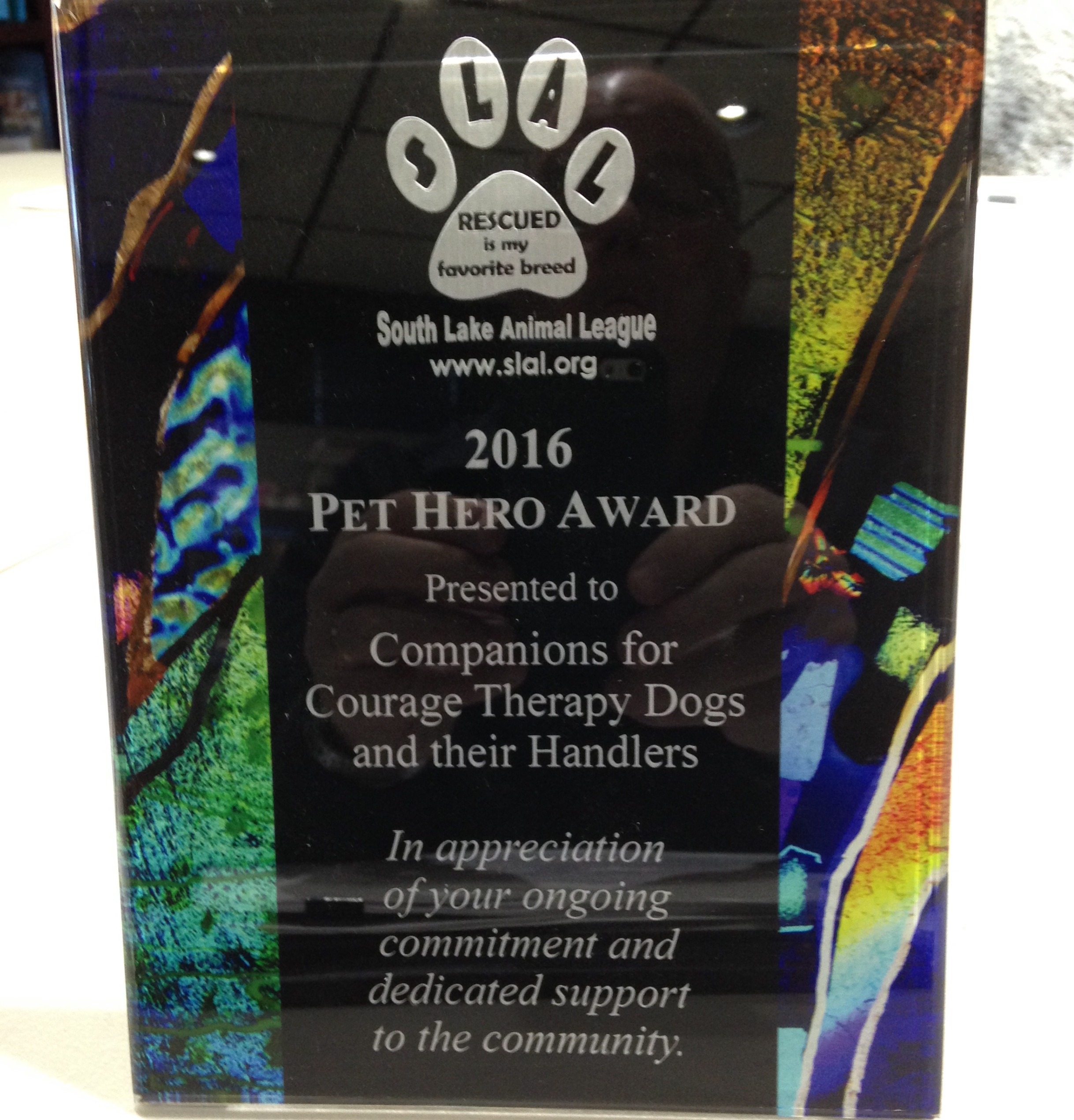 2016 Pet Hero Award - South Lake Animal League