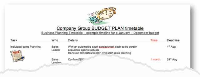 year budget planner
