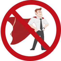 Don't rely on a sales hero