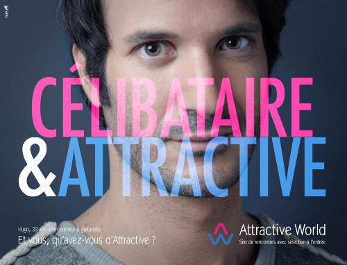 Publicité Attractive World 2014 avec le célibataire Hugo