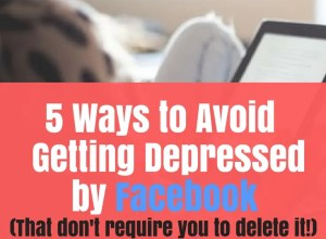 5 Ways to not be depressed by Facebook Compared to Who