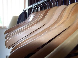 hangers in closet clothes make me feel fat