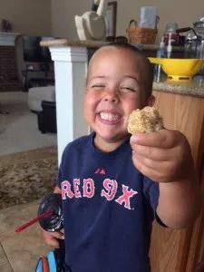 Peanut butter balls healthy kids snack