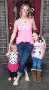 Amanda and daughters