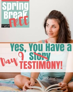you have a testimony