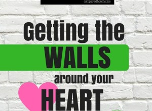 getting the walls around your heart to come down
