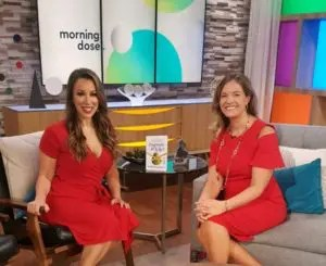 Heather Creekmore with Jenny Anchondo on the Morning Dose CW