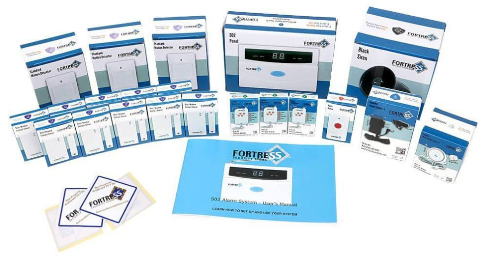 Fortress Security Store (TM) S02-B Wireless Home and Business Security Alarm System