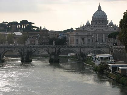 Vista para o Vaticano